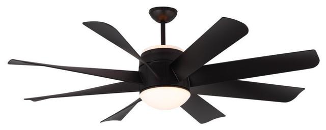 Turbine Fan, Matte Black, 56.