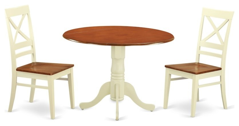 Dining Table And 2 Wooden Chairs