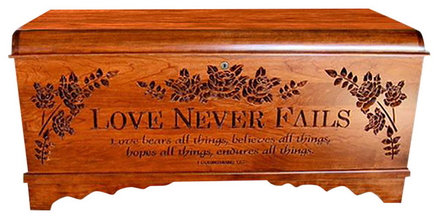 Hope Chest Amish Chest Love Never Fails Large Cherry
