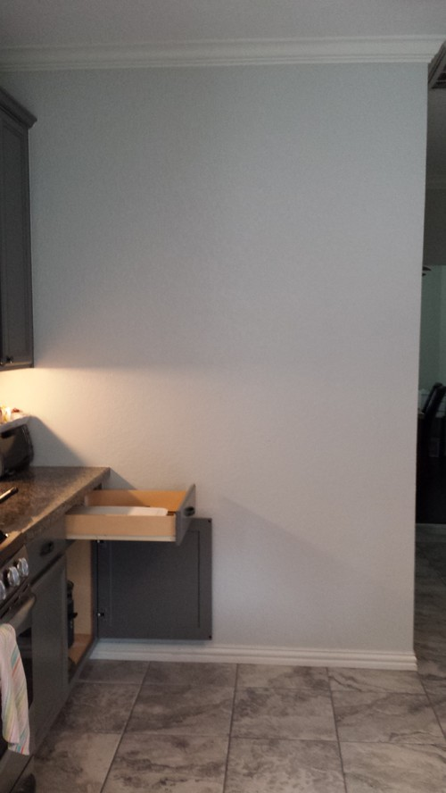 The Space Is Pretty Large Like 6ft X 5ft So It Feels Weird On That End Of Kitchen Any Ideas Would Be Great