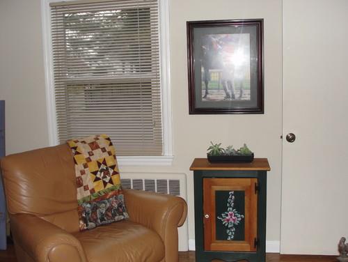 Small Tv Room updating a small tv room/den