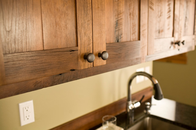 Contemporary kitchen cabinetry by montana reclaimed lumber co