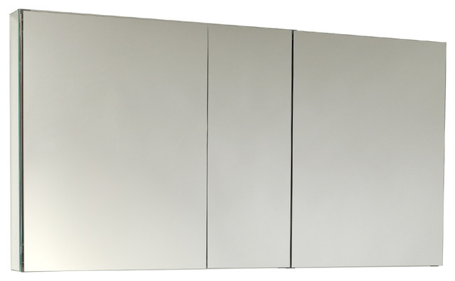 "Fresca 50"" Wide Bathroom Medicine Cabinet With Mirrors."