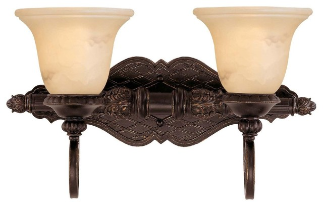 Bathroom Vanity Lights Traditional : Savoy House Knight 2 Light Bath Bar in Antique Copper - Traditional - Bathroom Vanity Lighting ...