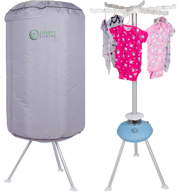 Simple Living Products Round Portable Clothes Dryer Contemporary Drying  Racks