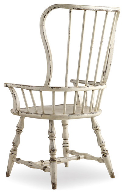 Alfred Spindle Armchair, Distressed White.