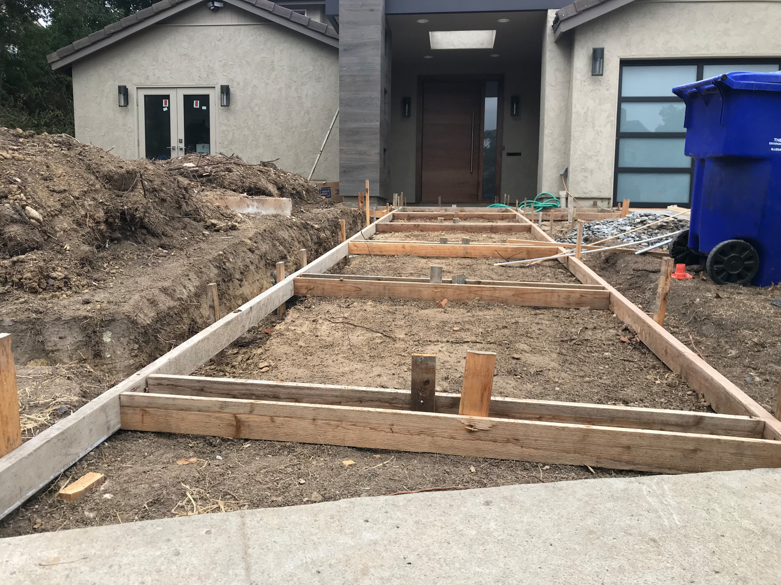 Forming for A New Modern Concrete Walkway