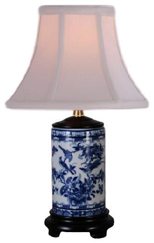 Lovell Porcelain Table Lamp, Blue And White