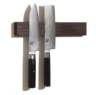 M.O.C. Board Wenge Magnetic Knife Holder traditional-knife-storage