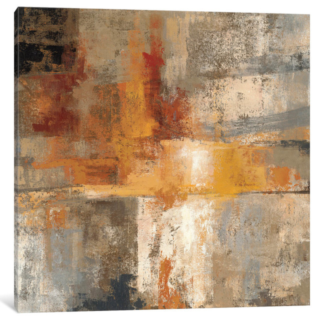 """""""silver And Amber Crop """" By Silvia Vassileva, 26x26x0.75""""."""