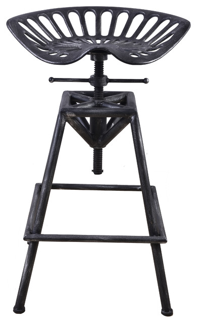 Industrial Cast Iron and Steel Adjustable Tractor Stool