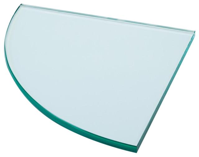 Corner Shelf, Clear Glass