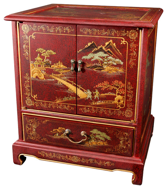 Japanese End Table - Asian - Accent Chests And Cabinets - by Oriental Furniture