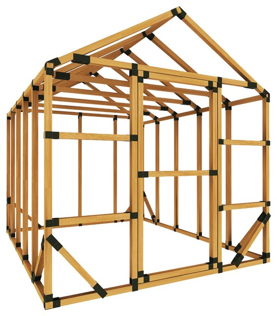 8x10 Standard Storage Shed Kit, With Floor Framing