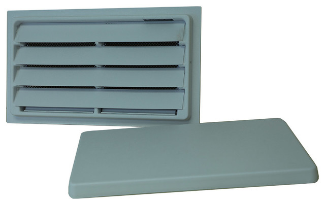 Manual Crawl Space Vent With Removable Cover And Vermin Screen White 8 X16 Contemporary Registers Grilles And Vents By Crawl Space Door Store