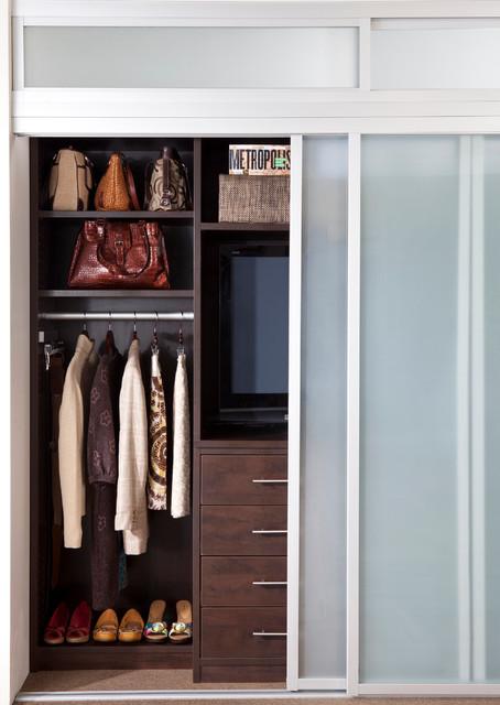 Nice Combination Reach In Closet And Entertainment Center Contemporary Closet