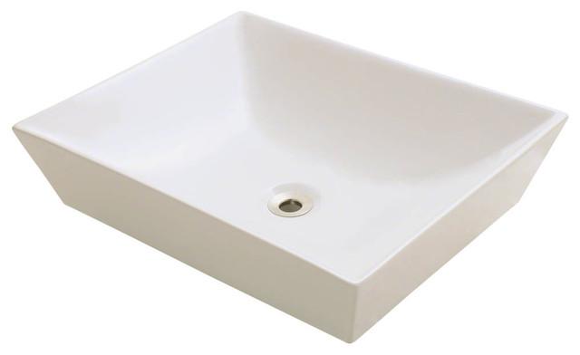 Polaris P073vb Bisque Porcelain Vessel Sink.