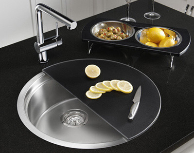 Prep sinks with cutting board top accessories for Blancoamerica com kitchen sinks
