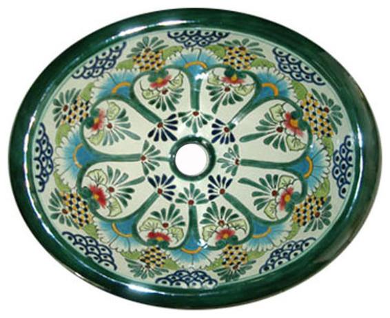 Talavera Handpainted Mediterranean Style Sink.