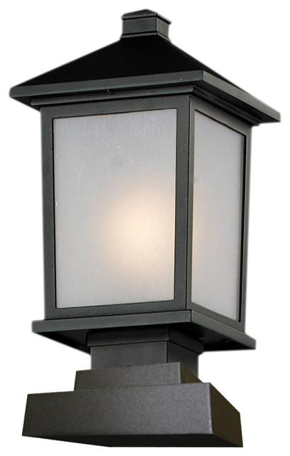 Outdoor Post Light, Black/white Seedy.