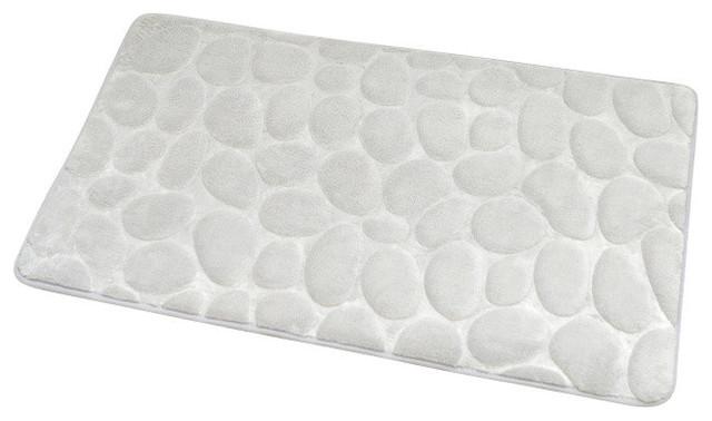 microfiber stone shape bath rug - contemporary - bath mats - by