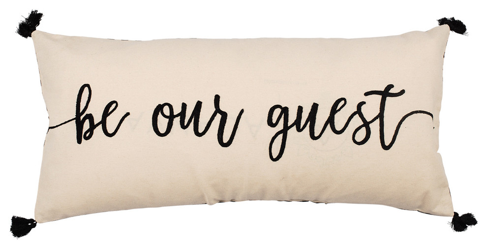 Be Our Guest Pillow Contemporary Decorative Pillows By Glory