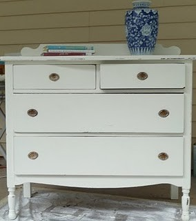 Clic White Shabby Chic Dresser Traditional St Louis By The Midwest Cottage