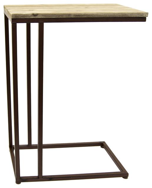 Three Hands Wood Metal C Table