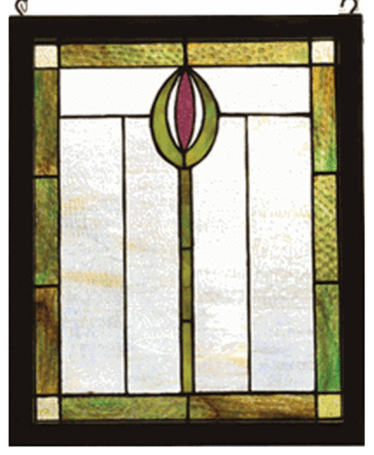 Meyda Tiffany 98100 Spear Wood Frame Stained Gl Window Copperfoil Finish