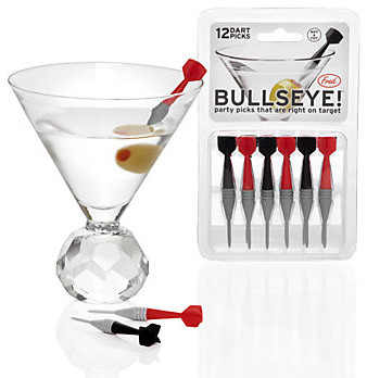 Bullseye Party Picks eclectic barware