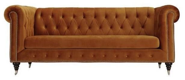 Liza Sofa, Burnt Orange