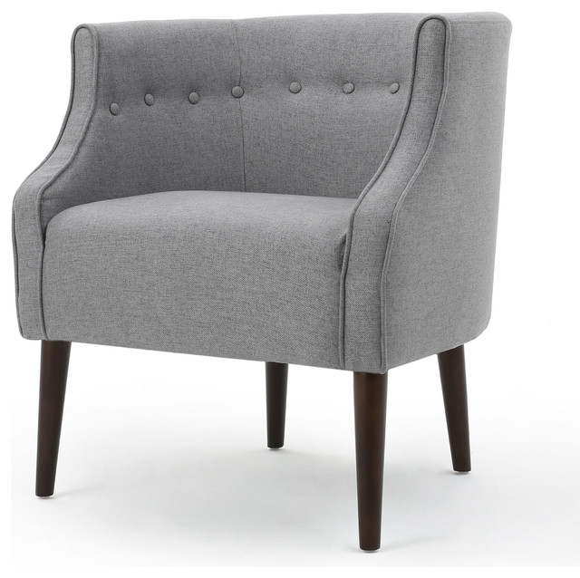 davidson tub design upholstered accent chair gray accent