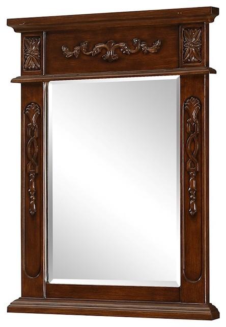 Elegant Decor Danville 22 Traditional Mirror, Brown by Elegant Furniture & Lighting