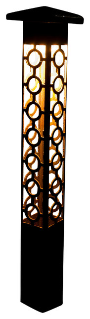 "Path Light-Decorative Steel -Circle Cross Design, 24""."