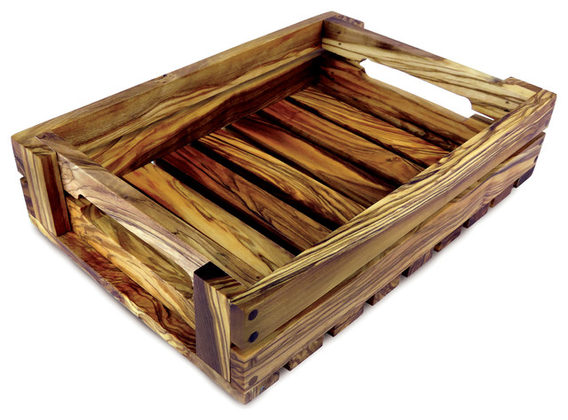 Olive Wood Kitchen Crate.