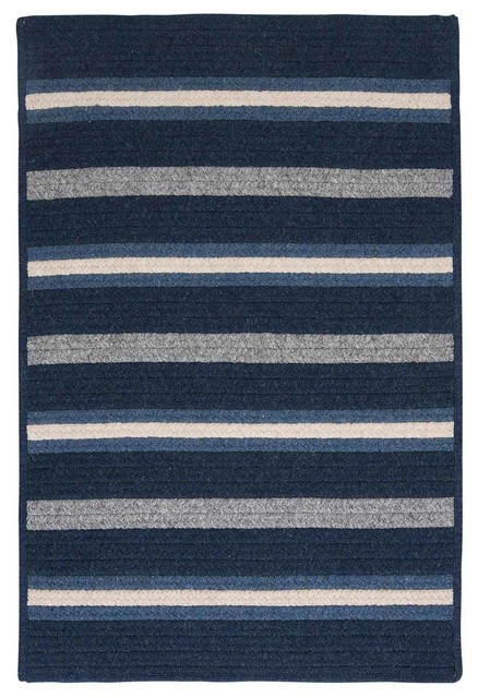 Colonial Mills Salisbury Ly29 Navy Blue Gray Area Rug