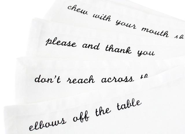 Manners Napkins, Black