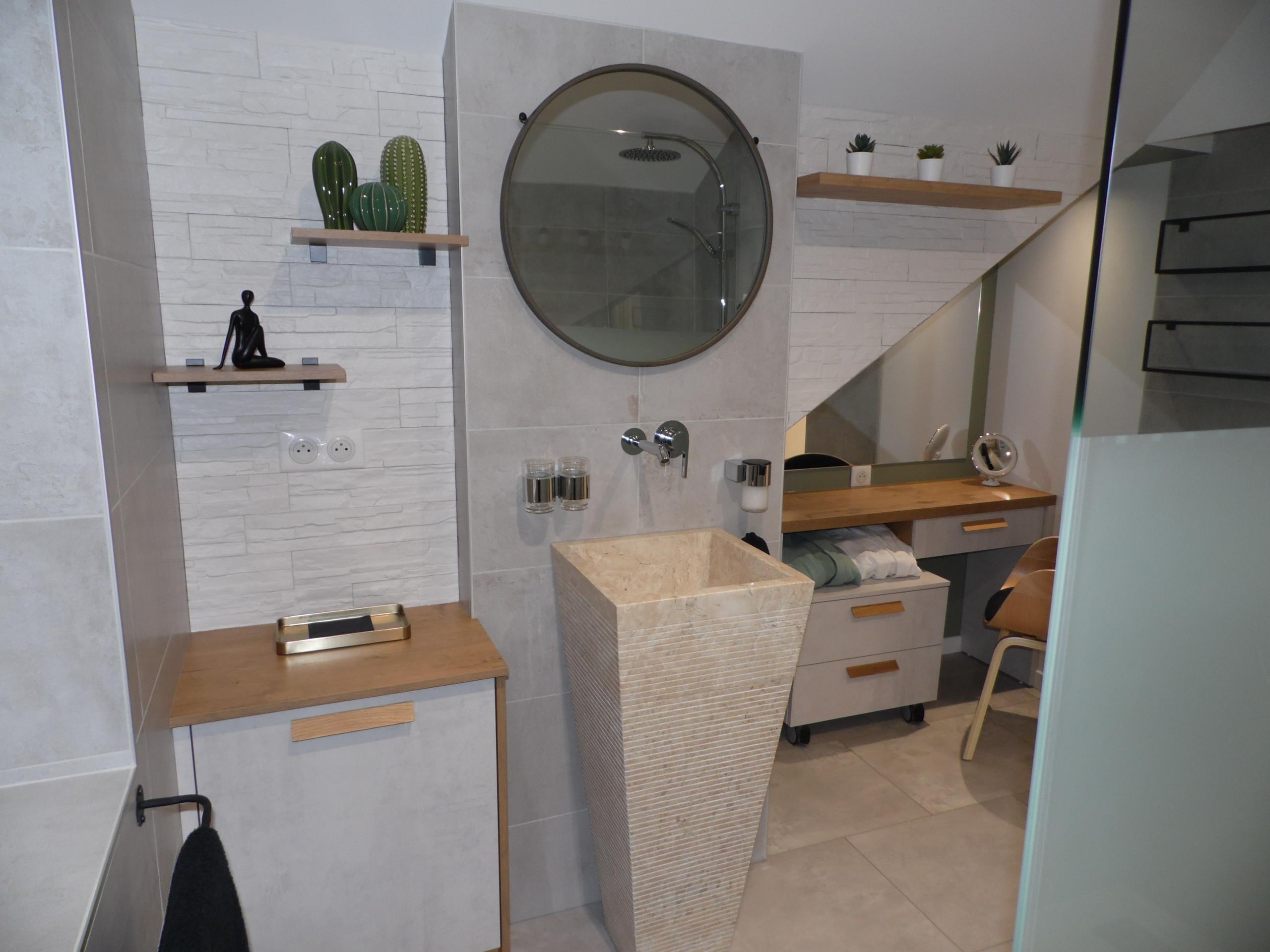 Salle de bain aux allures de spa