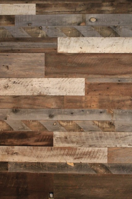 Reclaimed Barn Wood Feature Wall Texas Residence October