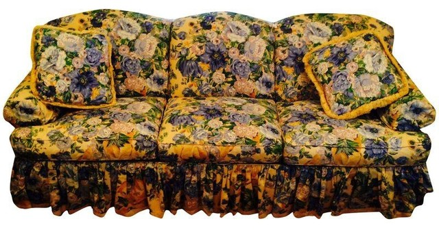 Hickory Chair Sovereign Collection Flower Sofa