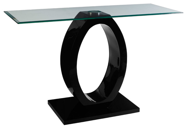 Halo Console Table, Black.