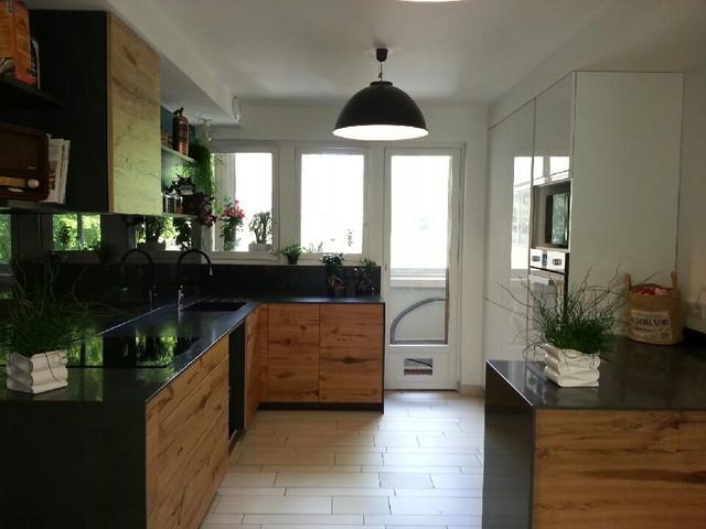 excellent refonte duune ancienne cuisine avec ouverture duun mur esprit loft industriel with. Black Bedroom Furniture Sets. Home Design Ideas