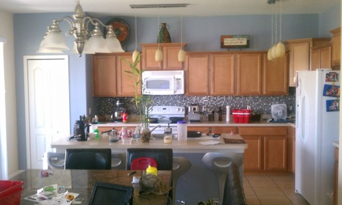 Ordinaire Just Painted My Kitchen And Am Not In Love With It What S Wrong. Slate Blue  ...