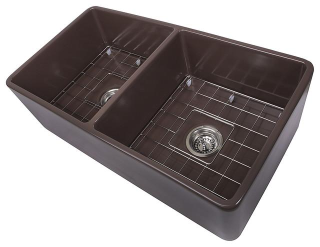 "Gemma Farmhouse Double Kitchen Sink, 33""."