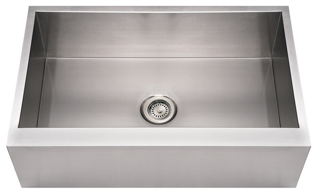 Whitehaus WHNCMAP3321 Commercial Single Bowl Undermount Sink with Front-Apron