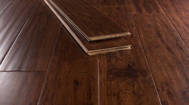 "Cafe Brown Antiqued Strand Eucalyptus Flooring, 5.5""x47.25"" Planks, Set Of 16."