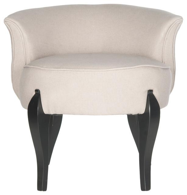 Mora French Leg Linen Vanity Chair.