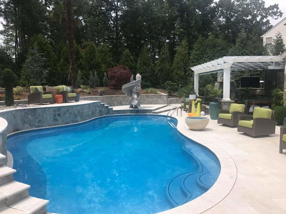 Patio with Large Pool