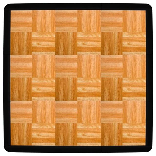 FlooringInc Piece Modular Tap Dance Floor Set With Edge Pieces - Portable dance floors for home use