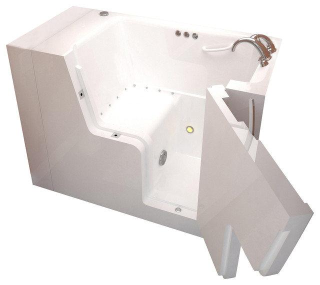 Venzi Bathing 29x53 Right Drain White Air Jetted Wheelchair Accessible/walk In.
